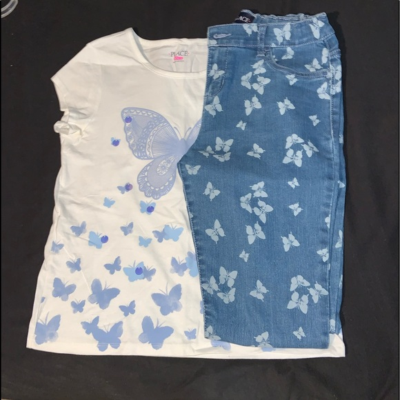 The Children's Place Butterfly Matching Set